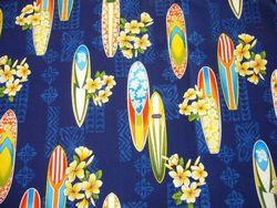 サーフボード青&プルメリア