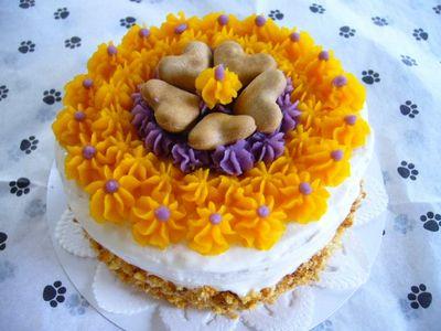 お花畑ケーキ♪