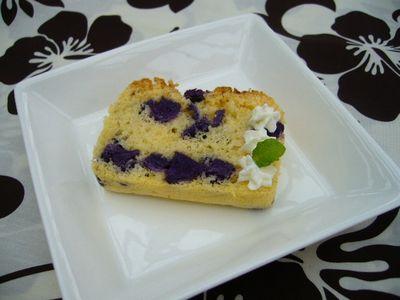 むらさき芋のパウンドケーキ