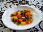 馬肉と季節の野菜スープM