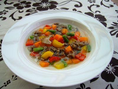馬肉と季節の野菜スープL