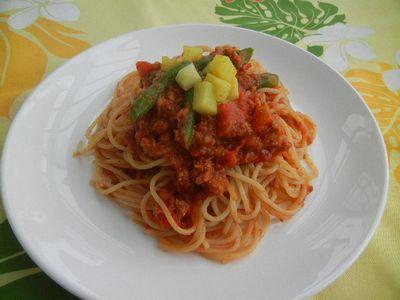 カレートマトパスタ