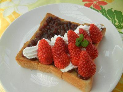 いちご小倉トースト