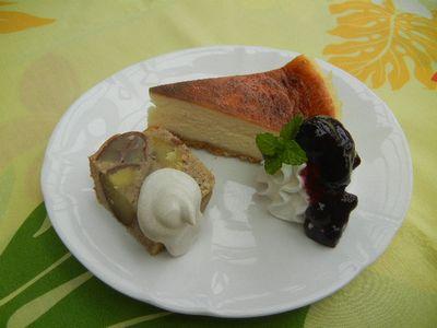 ベイクドチーズケーキ&マロンケーキ
