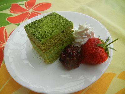抹茶生チョコケーキ